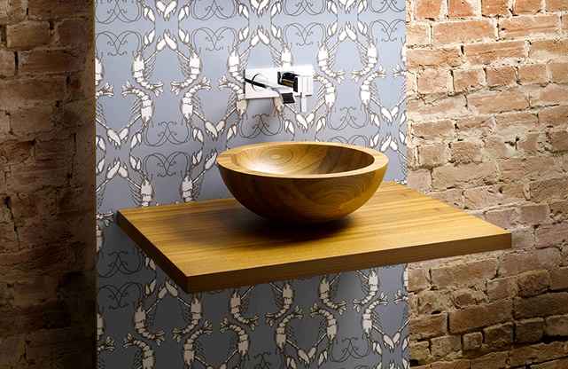 A wood basin is a thing of beauty